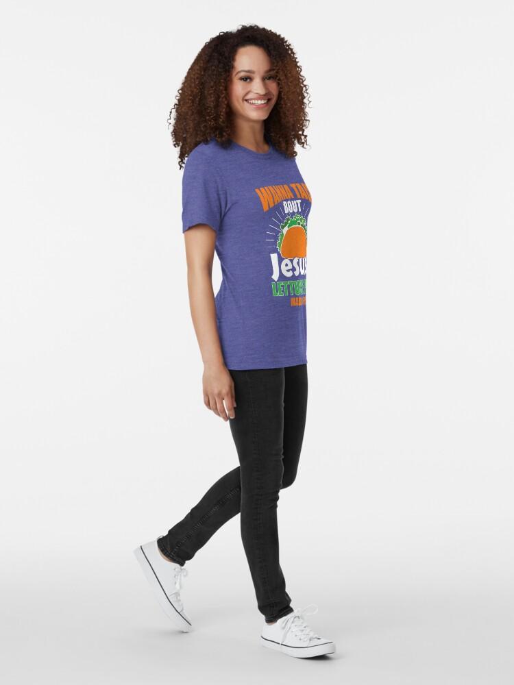 Alternative Ansicht von Wollen Sie Taco Bout Jesus lustiges christliches Design Vintage T-Shirt