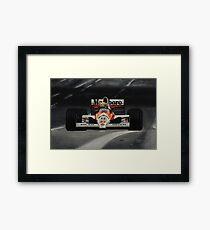 Ayrton Senna. Mclaren MP4/5B Framed Print