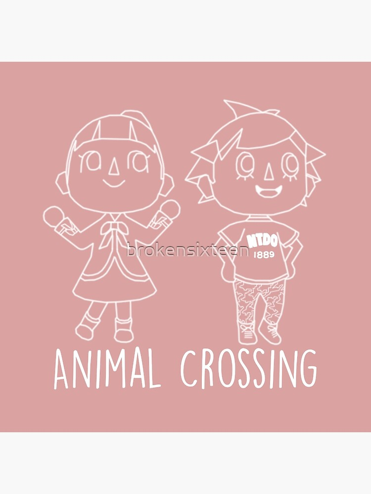 Animal Crossing Villagers Outline Tote Bag By Brokensixteen Redbubble