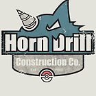 Pokemon - Horn Drill Construction Co. (Distressed) by Patrick Watson