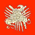 """""""Petals"""" Foot Bones and Flora Illustration by Amanda  Shelton"""