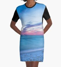 If By Sea - Sunset on the Beach Near Destin Florida Graphic T-Shirt Dress