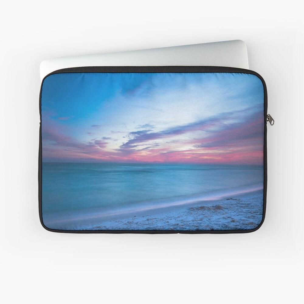 Wenn durch Meer - Sonnenuntergang am Strand in der Nähe von Destin Florida Laptoptasche