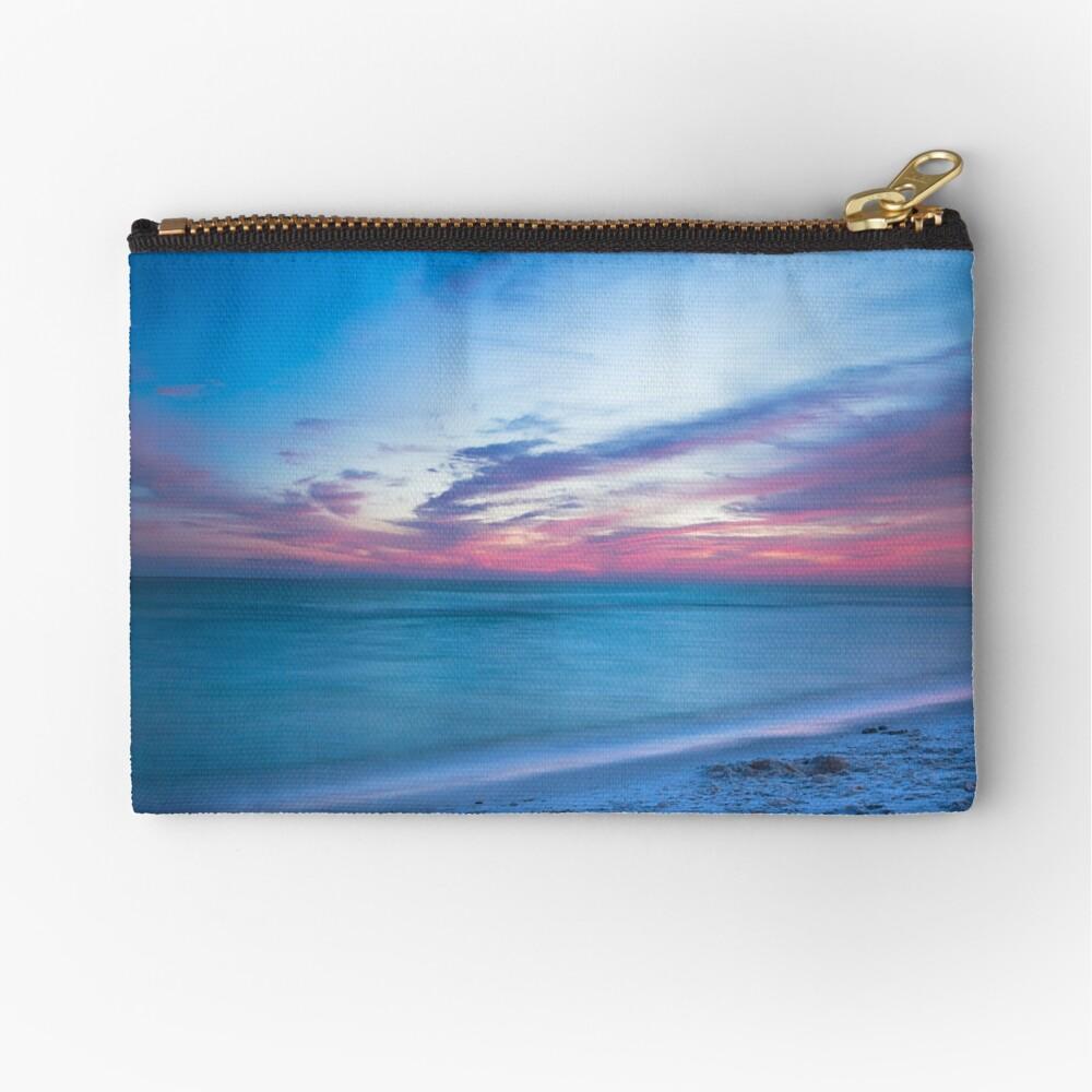 Wenn durch Meer - Sonnenuntergang am Strand in der Nähe von Destin Florida Täschchen