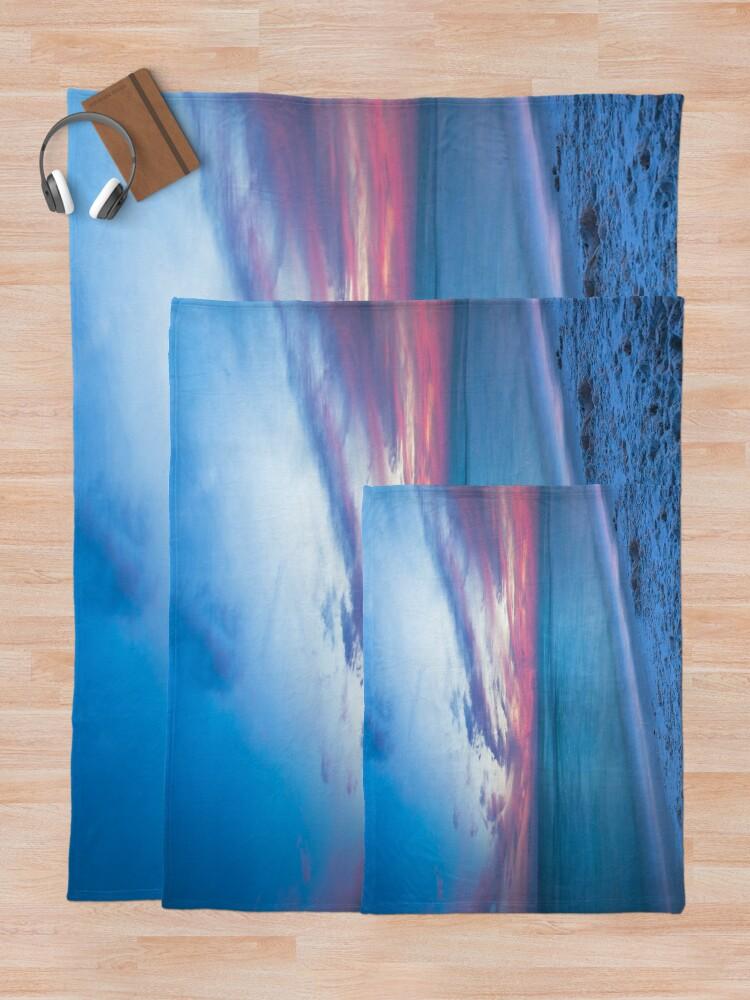 Alternative Ansicht von Wenn durch Meer - Sonnenuntergang am Strand in der Nähe von Destin Florida Fleecedecke