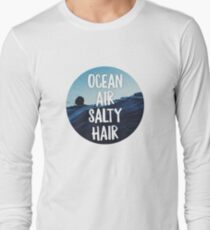 Ocean Air Salty Hair - Cute Beach Sticker T-Shirt Pillow T-Shirt