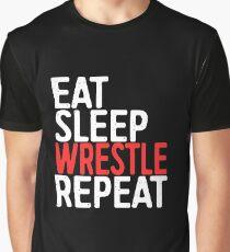Eat Sleep Wrestle Repeat Graphic T-Shirt