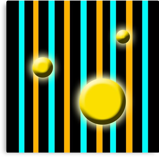 Golden Globes with stripes by JimmyGlenn Greenway