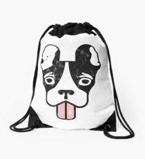 Boston Terrier Crazy Pup  Drawstring Bag
