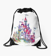 Princess Castle  Drawstring Bag