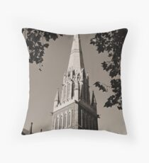 St.Patricks cathedral spire Throw Pillow