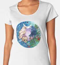 Botanical Celtic Ravens - Sacred Balance Women's Premium T-Shirt