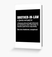 Brother In Law Funny Meaning Gag Gift Greeting Card