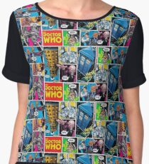 Doctor Who Comic Chiffon Top