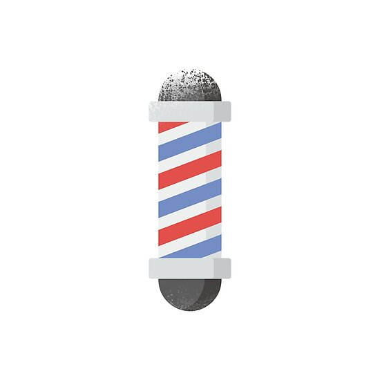 Vintage Barber Pole - Cool Barber Sticker T-Shirt Pillow by TheTeeMachine
