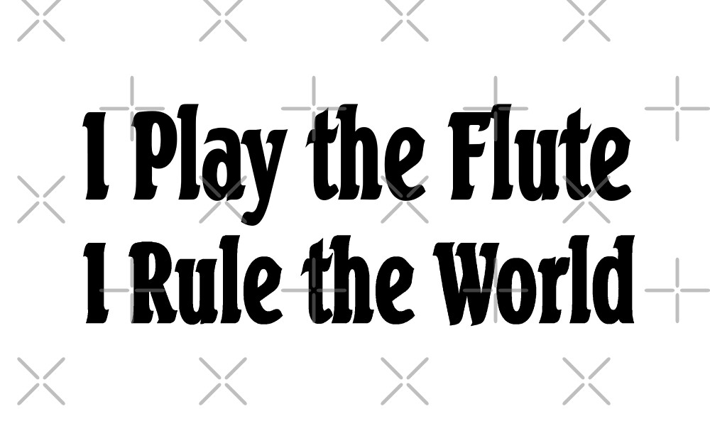 I Play The Flute I Rule The World - Funny Flute T Shirt  by greatshirts