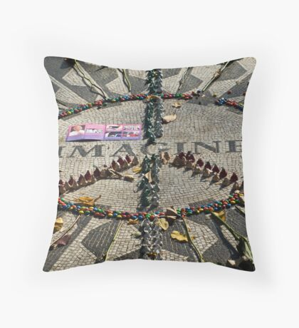 imagine all the people .... Throw Pillow