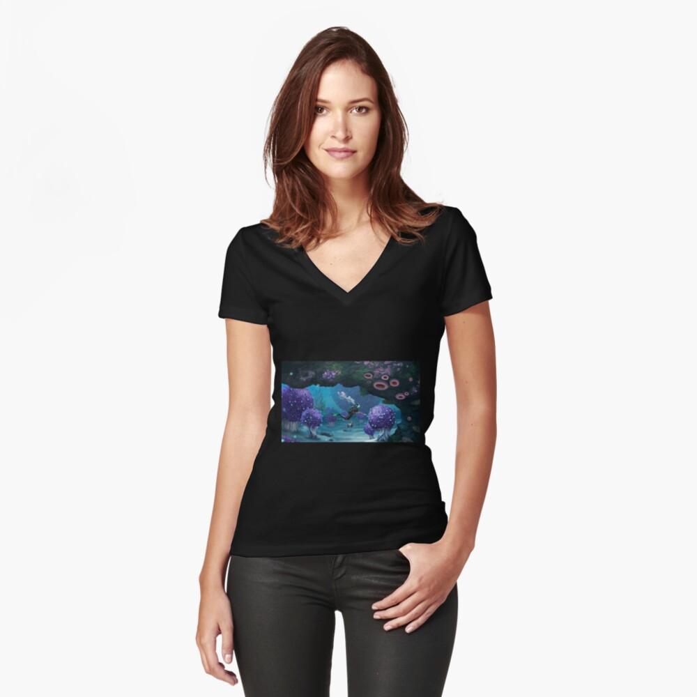 Subnautica Camiseta entallada de cuello en V