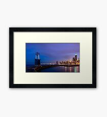 Curving into Chicago Framed Print