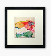 Water Color Rex Skull Framed Print