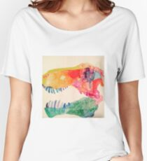 Water Color Rex Skull Women's Relaxed Fit T-Shirt