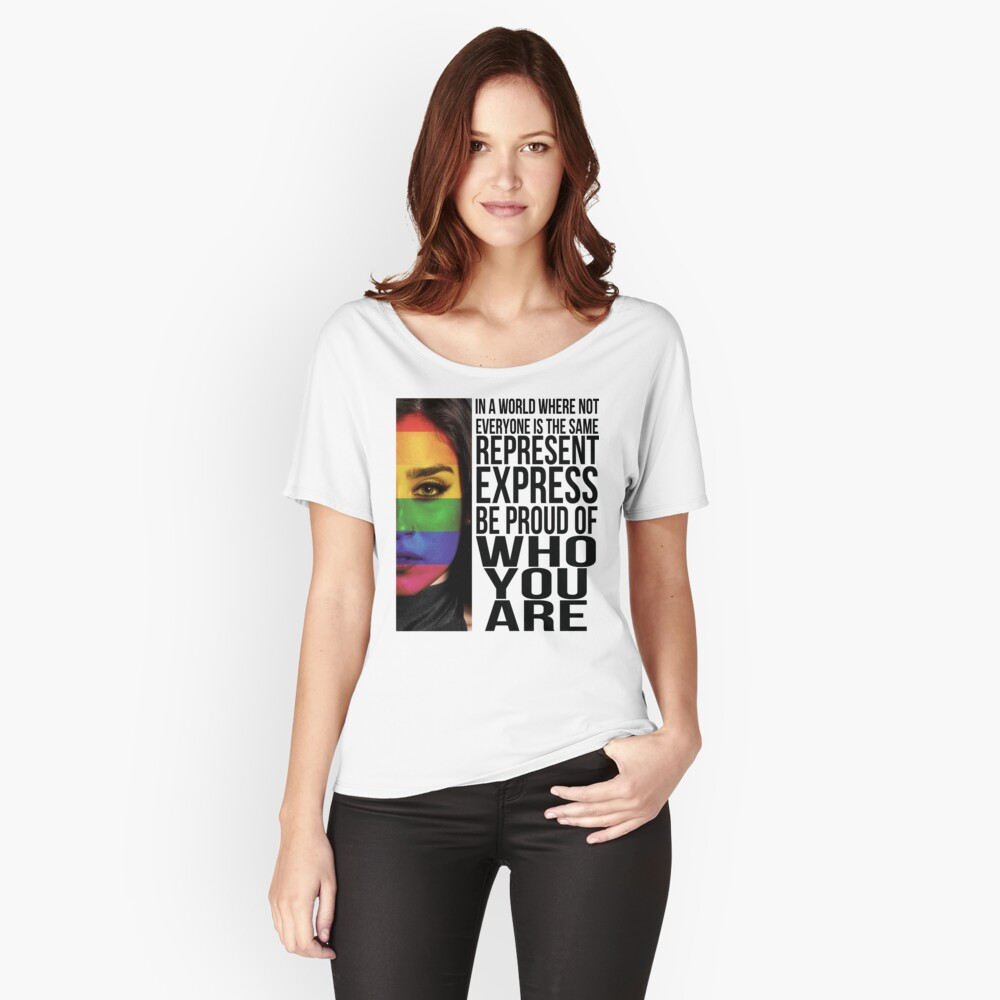 Camiseta ancha para mujerLAUREN JAUREGUI - REPRESENTACIÓN Delante