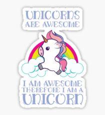 'Awesome Unicorn' Funny Unicorn Gift  Sticker