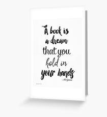Neil Gaiman quote Greeting Card