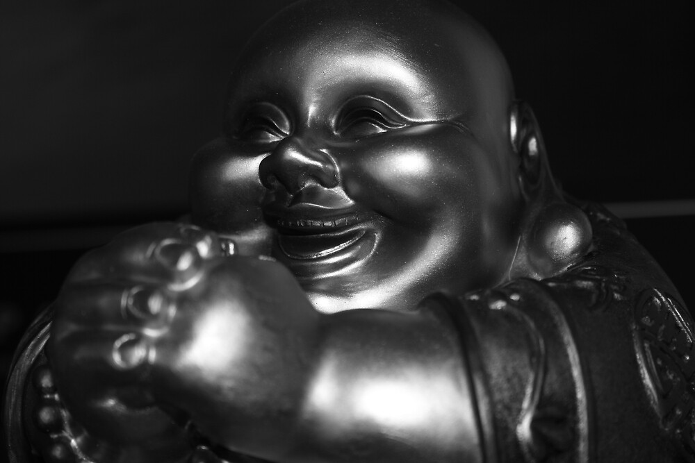 b & w buddha by missv