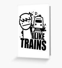 Ich mag Züge! Grußkarte