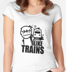 I Like Trains! Women's Fitted Scoop T-Shirt