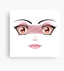 Unhappy Face 5 Canvas Print
