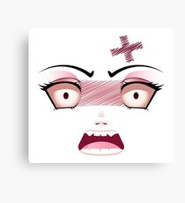 Unhappy Face 6 Canvas Print
