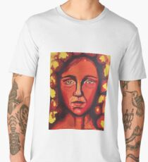 Red Woman Flower  Men's Premium T-Shirt