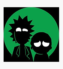 Rick and Morty in Green Photographic Print