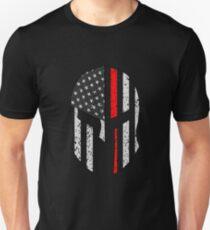 Thin Red Line Firefighter Helmet Unisex T-Shirt