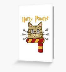 Harry Pawter Cute Cat Potter Kitten Shirt Greeting Card