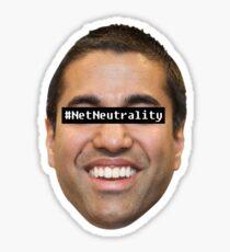 "Ajit Pai ""#NetNeutrality"" Sticker Sticker"