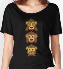 Three Wise Monkeys Shirt | Hear no evil, See no evil, Speak no evil Women's Relaxed Fit T-Shirt
