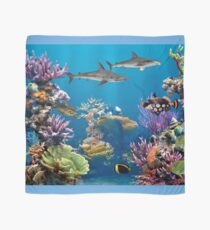 Colorful Coral Reef Painting Scarf