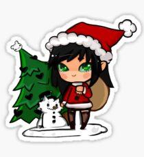 Cute chibi santa christmas sticker Sticker