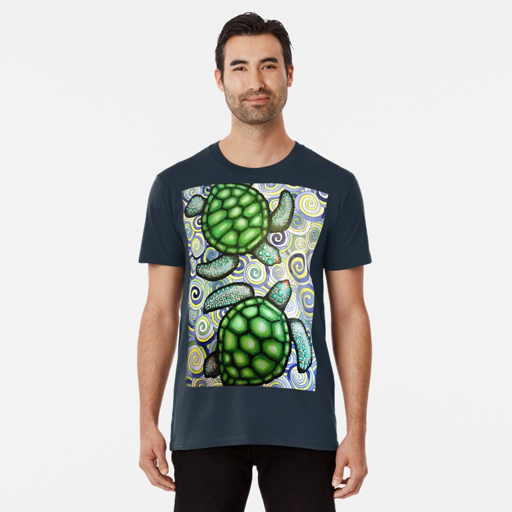 Turtle Tide in Spiralen Premium T-Shirt