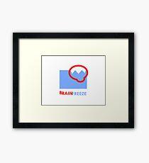 Brain Freeze Framed Print