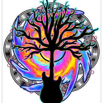 """""""Psychedelic Sonic Cyclone""""   ( surreal guitar tree art) by LeahMcNeir"""