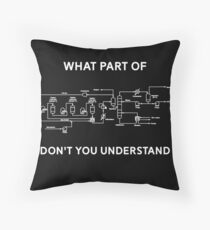 Funny Chemical Engineering T Shirt Throw Pillow