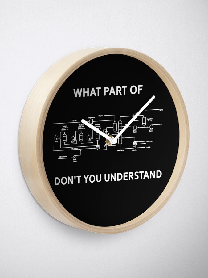 Alternate view of Funny Chemical Engineering T Shirt Clock
