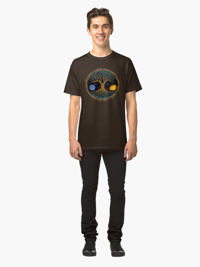 Alternate view of Astral Tree of Life Classic T-Shirt