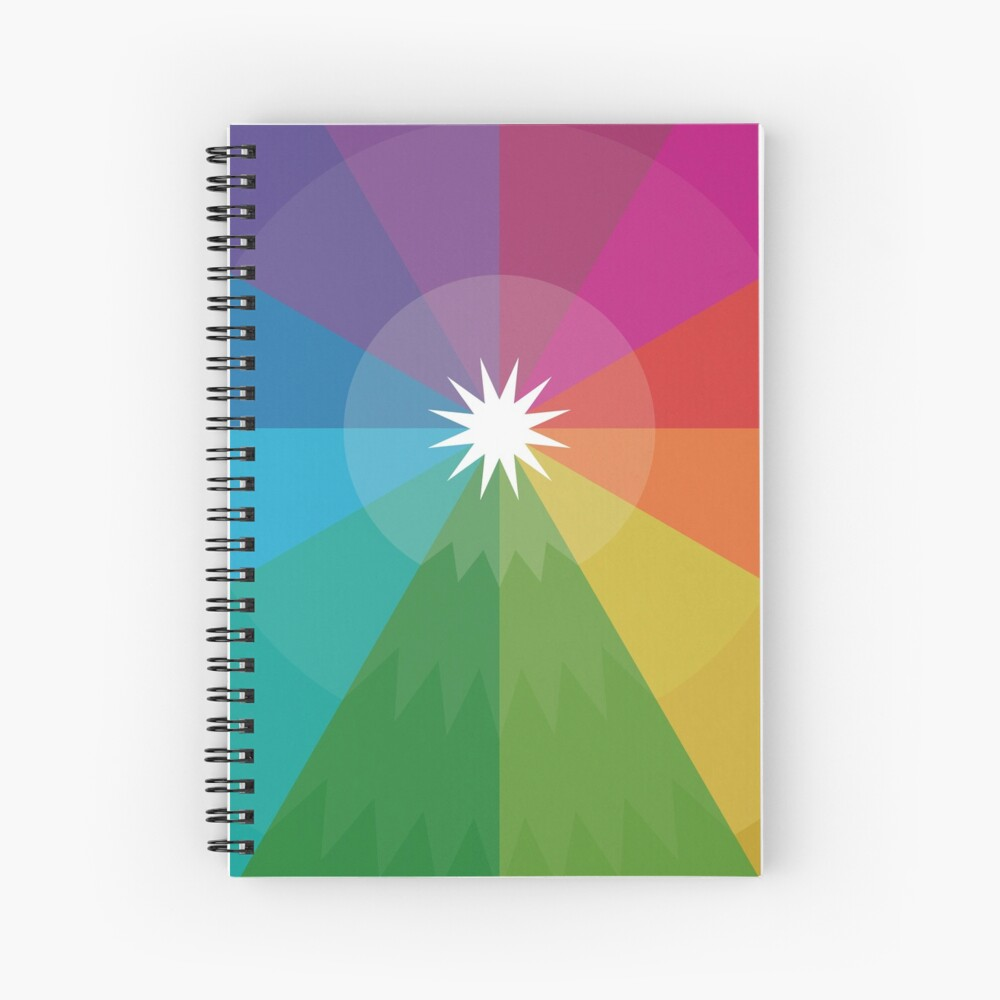Happy Hue-lidays! Spiral Notebook