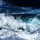 Dark Blue Ocean Waves by PrintsProject