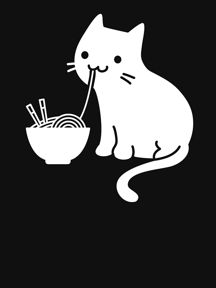 Lindo gato comiendo ramen de ethandirks